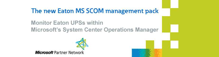 Eaton Management Pack for MS SCOM