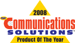 Communications Solutions 2008 award logo
