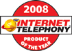 Internet Telephony product of the year award logo