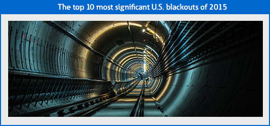 The top 10 most significant U.S. blackouts of 2015