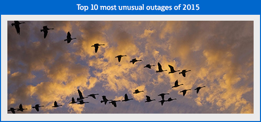 Top 10 most unusual outages of 2015