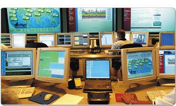 computer screens monitoring data