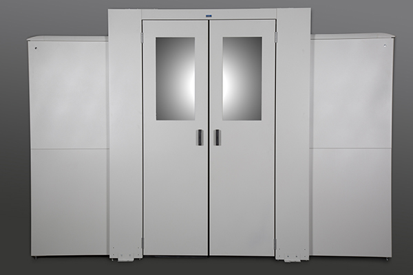 Dual-swing End of Row Door in NuGrey