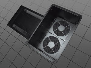By using two optional fans, you can increase your airflow up to 2,600 CFM.