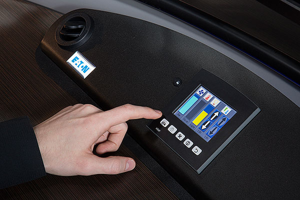 Circulated ambient and  heated air, as well as light  dimming and worksurface  lift control, are operated from a full color touchscreen control panel.