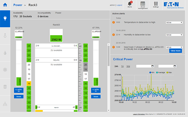 Dcim Dcso Infrastructure Management Software Eaton